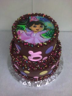 Birthday Cake Dora The Explorer Pink