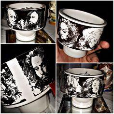 Pietro Annigoni per Eva Sud porcellane d'arte cups