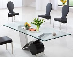 Eugenio Clear Glass Small Dining Table