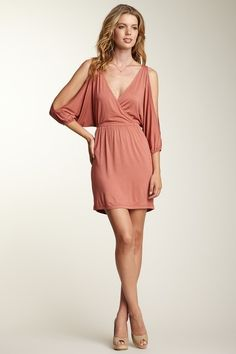 Necessary Neutrals  Lush Cold Shoulder Dress  HauteLook - Sold Out :(