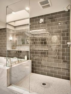 #master_bathroom with #alloy #tiles designed by RW Anderson Homes - #contemporary #bathroom #bath #design #bath_design