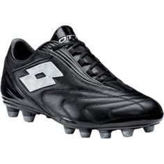 10aab65b7de6 Mens Lotto Fuerzapura L300 Soccer Cleats Black Leather - ONLY $69.95 Soccer  Cleats, Black Silver