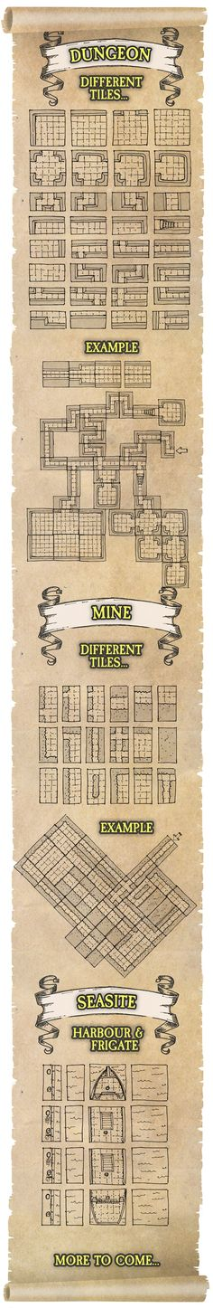 Create maps for pen & paper, role-playing, DnD and miniature games Dungeon, mining, terrain tiles +hundreds of objects! 'Dwarven Paper'
