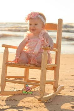 Photography, Baby Girl,Beach, Rocking Chair
