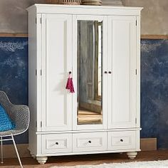 """Not enough drawers so skip.  52""""W X 72""""H X 23"""" D - Available in White and Off-White - Anna wants to see a more functional/easy way to open and close that left side…"""