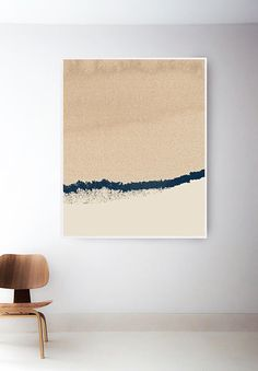 Abstract Tan Print. Navy and Light Brown Art. Beige Art Prints. Minimal Painting. Modern Abstract Art Print. Tan Art. Minimal Blue Wall Art ---FREE SHIPPING in the U.S. /// Available at The Peoples Prints Shop @ etsy.com/shop/thepeoplesprints