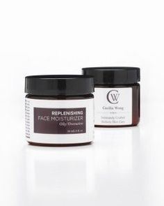 Replenishg Face Moisturizer- Oily/Overactive Skin by Cecilia Wong Skincare. $68.00. Aids in clearing blemishes and unclogs pores. Stimulating and Increases Circulation. Rich in Vitamin A,E,C,K Zinc, essential fatty acids and enzymes. Anti-inflammatory and Improves skin clarity. Detoxing, high in antioxidants,. Oily skin, meet your ideal moisturizer.Ê A light-yet-luscious whipped creme brimming with a holistic blend of Neroli, Pumpkin, Rosemary, and Orange Peel...