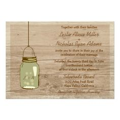 57 best design your own wedding invitations online images on design your own wedding invitations online by oldcountrystore see more country wooden rustic mason jar wedding invitation stopboris Choice Image