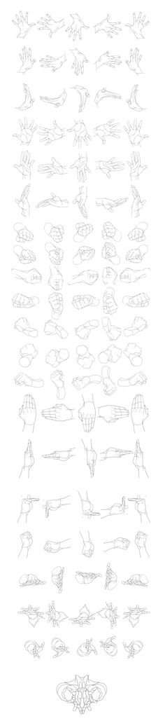 """Hands Movement/Rotation"" Reference Sheet Art Drawing Tips"