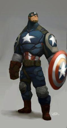 Captain America by Corey Smith - Marvel Comics. Comic Book Characters, Marvel Characters, Comic Character, Comic Books Art, Comic Art, Marvel Comics, Marvel Art, Marvel Heroes, 3d Art