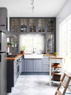 Do you want to have an IKEA kitchen design for your home? Every kitchen should have a cupboard for food storage or cooking utensils. So also with IKEA kitchen design. Here are 70 IKEA Kitchen Design Ideas in our opinion. Hopefully inspired and enjoy! Butcher Block Countertops Kitchen, Farmhouse Kitchen Cabinets, Kitchen Cabinet Design, Kitchen Redo, New Kitchen, Kitchen Ideas, Kitchen White, Kitchen Small, Country Kitchen