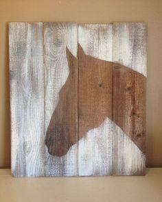 Horse Head Silhouette Handpainted on reclaimed by FordCountry . Horse Head Silhouette Handpainted on reclaimed by FordCountry More Source by ambrociopalacio. Arte Pallet, Horse Silhouette, Silhouette Painting, Diy Wood Signs, Pallet Signs, Painted Wood Signs, Rustic Signs, Horse Crafts, Barn Wood Crafts