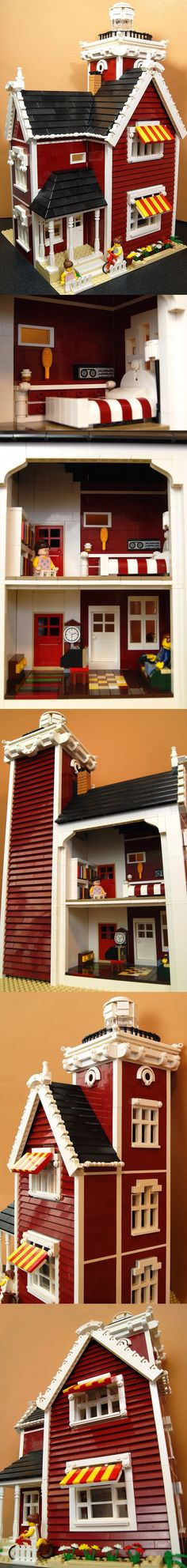 This combines my love of Lego and Dolls Houses