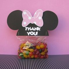 minnie mouse favor ideas | Minnie Mouse Ears Treat & Party Favor Thank You by mypaperpantry, $6 ...