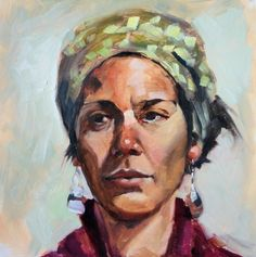 Chrissy - portrait painting,Debbie Miller -- Debbie Miller
