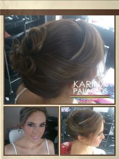 Moño romántico #Hair Karina #makeup Anneliese