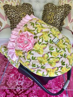 In Stock and Ready to Ship Car Seat Cover Lemonbabe Baby Car