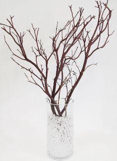 diy l'arbre de table : branches deco table perles d'eau