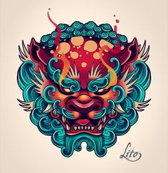 Fu Dog Tattoo Design