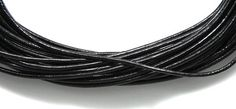 Picture of 10LC109-5, India Leather Cord Black 1mm 5meter Coil
