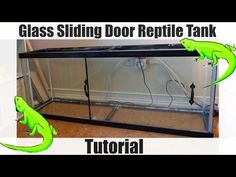 How to Add Glass Sliding Doors to a Reptile Vivarium - CUSTOM ENCLOSURE - YouTube