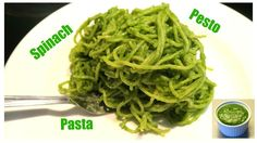 Špenátové pesto | Spinach pesto | Vegan | Vegabund Pesto Spinach, Spaghetti, Pasta, Vegan, Ethnic Recipes, Food, Meals, Noodles, Yemek
