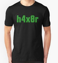 81cbca477e1 h4x0r for Computer Hackers - Green Text Design by ramiro Gold T Shirts