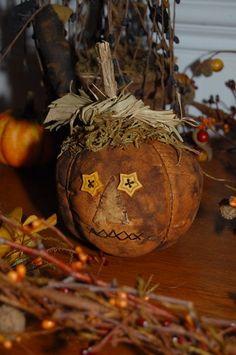 Primitive Fall Autumn Halloween Pumpkin Decoration Bowl Filler Ornie | eBay