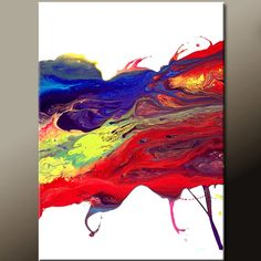 Chasing Rainbows - NEW Abstract Modern Art Painting  Original Contemporary by wostudios, $69.00