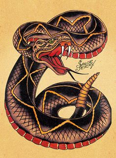 Sailor Jerry poster Tattoo Vintage snake