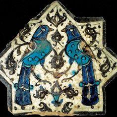 Turkish Seljuk Star Shaped Bird Naturalistic Animal Design Tile From Kubadabad Palace Konya Turkish Art, Turkish Tiles, Islamic Tiles, Islamic Art, Tile Art, Mosaic Tiles, William Morris, Islamic Paintings, Antique Tiles