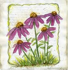 Image result for pen and watercolor flower