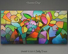 geometric flower landscape art - Google Search