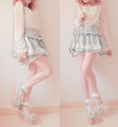 i wanna make this, but make it a little lower than knee length or even as a full skirt-- that top detail is so adorable!!