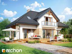 Projekt: Dom w kalateach 2 on Behance Cottage Style Homes, Viera, Home Fashion, My Dream Home, House Plans, Sweet Home, Farmhouse, Exterior, House Design