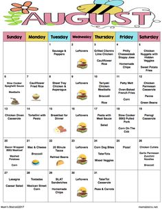 30 Days of No Repeat Kid-Friendly Dinners - September 2015 Meal Plan with FREE Printable Recipes and Grocery List Monthly Meal Planning, Family Meal Planning, Meal Planner, Menu Planning, Frugal Meals, Budget Meals, Kids Meals, Budget Recipes, Dinner Themes