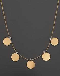 "Roberto Coin 18 Kt. Yellow Gold ""Chic & Shine"" Necklace with Diamonds 