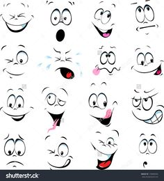 stock-vector-illustration-of-cartoon-faces-on-a-white-background-176896955.jpg 1,447×1,600 pixels