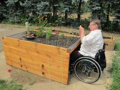 aging in place / barrier free - think ahead when designing garden