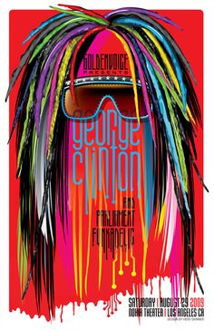Gig Poster: George Clinton & Parliament Funkadelic by Heidi Skinner, via Behance
