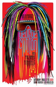 Gig Poster: George Clinton & Parliament Funkadelic by Heidi Skinner, via Behance