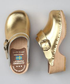 Gold Clog - Kids by Cape Clogs on #zulily today!