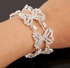 elegant Bridal Jewelry Wedding party Accessories Bridal Bracelet Wrist Band cuff bangle