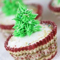 Cupcakes sapin de Noël | Féerie cake