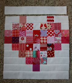 While the measurements and process I used in my Scrappy Heart Quilt top are still fresh in my mind, I thought I'd write up a quick tutorial. I know there are probably a lot of pixelated heart tutorials out there but since I haven't researched that at any point in the creation of my own quilt, I hope I'll be [...]