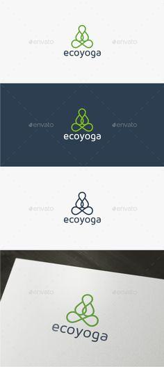 Eco Yoga  - Logo Design Template Vector #logotype Download it here: http://graphicriver.net/item/eco-yoga-logo-template/11809911?s_rank=724?ref=nexion