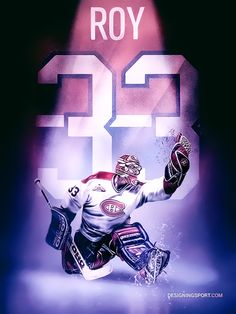 The National Hockey League (NHL) pits 30 teams who play against each other throughout the regular season in North America with the goal of earning a playoff Goalie Gear, Goalie Mask, Hockey Goalie, Field Hockey, Hockey Players, Ice Hockey, Montreal Canadiens, Patrick Roy, Hockey Pictures