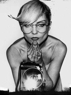debbie harry, my first cd was a blondie cd. my first idol was debbie