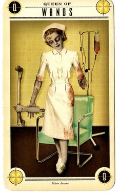 Tarotscopes for May 3 - May 9, 2015  Zombies for the week? Thanks a lot. My horoscope featured Zombies?? DO OVER!    Zombie Tarot Queen of Wands