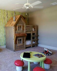 Le lit cabane rustique qui Imagine maisonnettes! Incroyable qualité et…                                                                                                                                                                                 Plus